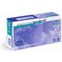 Semperguard Nitril Sapphire Blue púdermentes, S méret